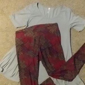 LuLaRoe top and leggings